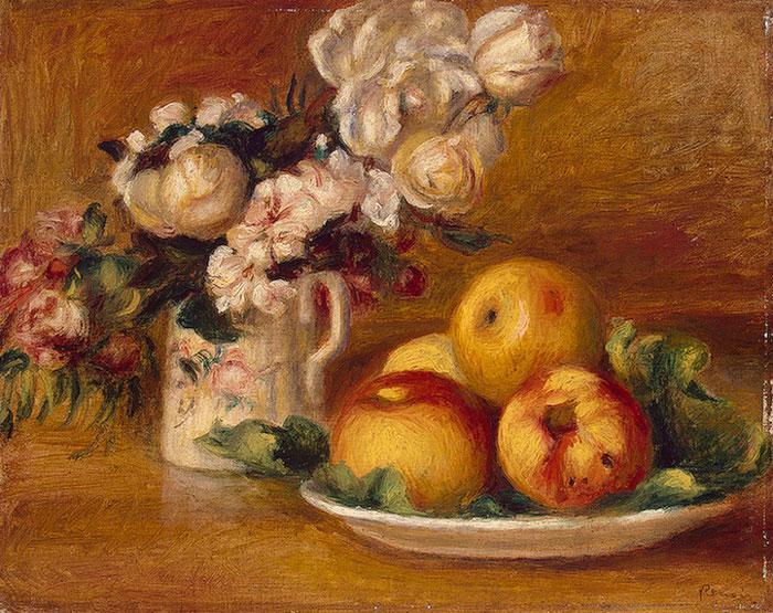 """Огюст Ренуар """"Яблоки и цветы"""""""